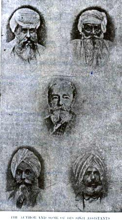 On 100th death anniversary of max arthur macauliffe 1838 1913 frontispiece of macauliffes book the sikh religion 1909 with the caption the author and some of his sikh assistants bottom left is bhai kahn singh fandeluxe Images