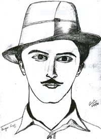 bhagat singh sketch wallpaper - photo #17